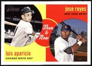 2008 Topps Heritage Then and Now Jose Reyes & Luis Aparicio Baseball Card