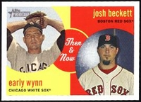 2008 Topps Heritage Then and Now Josh Beckett & Early Wynn Baseball Card