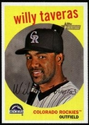 2008 Topps Heritage Willy Taveras Baseball Card