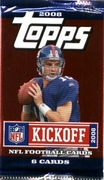 2008 Topps Kickoff NFL Football Cards Pack
