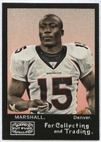 2008 Topps Mayo Brandon Marshall NFL Football Card