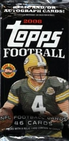 2008 Topps NFL Football Cards HTA Jumbo Hobby Pack