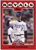2008 Topps Opening Day Alex Gordon Baseball Card
