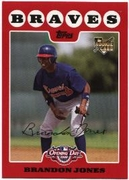 2008 Topps Opening Day Brandon Jones Rookie Baseball Card