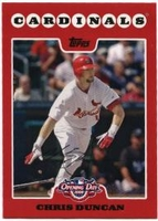 2008 Topps Opening Day Chris Duncan Baseball Card