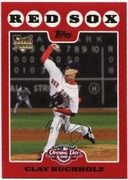 2008 Topps Opening Day Clay Buchholz Baseball Card