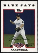 2008 Topps Opening Day Gold Aaron Hill Baseball Card