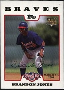2008 Topps Opening Day Gold Brandon Jones Baseball Card