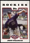 2008 Topps Opening Day Gold Jeff Francis Baseball Card