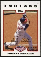 2008 Topps Opening Day Gold Jhonny Peralta Baseball Card