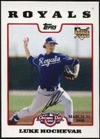 2008 Topps Opening Day Gold Luke Hochevar Baseball Card