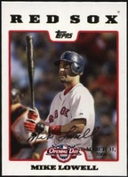 2008 Topps Opening Day Gold Mike Lowell Baseball Card