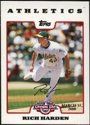 2008 Topps Opening Day Gold Rich Harden Baseball Card