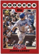 2008 Topps Opening Day James Loney Baseball Card