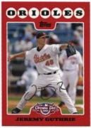 2008 Topps Opening Day Jeremy Guthrie Baseball Card