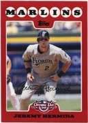2008 Topps Opening Day Jeremy Hermida Baseball Card