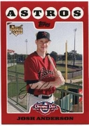 2008 Topps Opening Day Josh Anderson Baseball Card