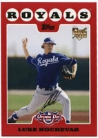 2008 Topps Opening Day Luke Hochevar Rookie Baseball Card