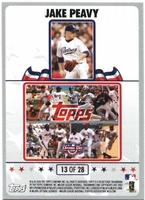 2008 Topps Opening Day Puzzle Card Jake Peavy #13 Baseball Card