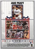 2008 Topps Opening Day Puzzle Card Jake Peavy #14 Baseball Card