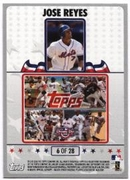 2008 Topps Opening Day Puzzle Card Jose Reyes Baseball Card