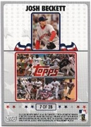 2008 Topps Opening Day Puzzle Card Josh Beckett #7 Baseball Card