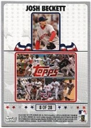 2008 Topps Opening Day Puzzle Card Josh Beckett #8 Baseball Card
