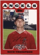 2008 Topps Opening Day Rich Thompson Rookie Baseball Card