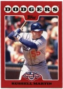 2008 Topps Opening Day Russell Martin Baseball Card