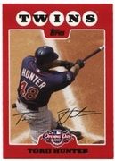 2008 Topps Opening Day Torii Hunter Baseball Card