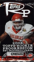 2008 Topps Rookie Progression NFL Football Cards Hobby Pack