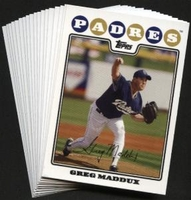 2008 Topps San Diego Padres Baseball Cards Team Set