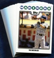 2008 Topps Seattle Mariners Baseball Cards Team Set