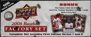 2008 Upper Deck 1st Edition Factory Baseball Cards Set