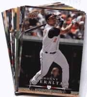2008 Upper Deck First Edition Cleveland Indians Baseball Cards Team Set