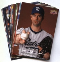 2008 Upper Deck First Edition San Diego Padres Baseball Cards Team Set