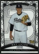 2009 Bowman Sterling Mat Latos Rookie Baseball Card