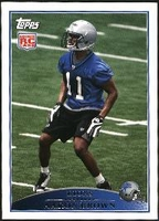 2009 Topps Aaron Brown Rookie NFL Football Card