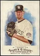 2009 Topps Allen and Ginter Aaron Cook Baseball Card