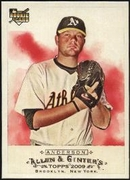 2009 Topps Allen and Ginter Brett Anderson Rookie Card