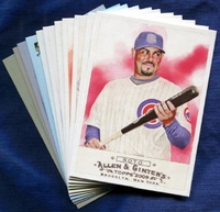 2009 Topps Allen and Ginter Chicago Cubs Baseball Card Team Set