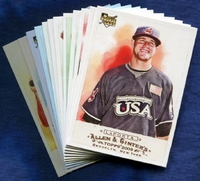 2009 Topps Allen and Ginter Cleveland Indians Baseball Card Team Set