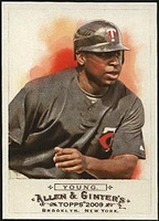 2009 Topps Allen and Ginter Delmon Young Baseball Card