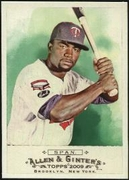 2009 Topps Allen and Ginter Denard Span Baseball Card