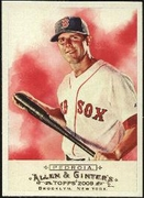 2009 Topps Allen and Ginter Dustin Pedroia Baseball Card