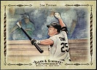 2009 Topps Allen and Ginter Highlight Sketches Jim Thome Baseball Card
