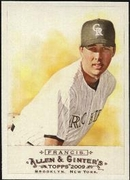 2009 Topps Allen and Ginter Jeff Francis Baseball Card