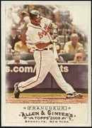 2009 Topps Allen and Ginter Jeff Francoeur Baseball Card
