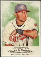 2009 Topps Allen and Ginter Jhonny Peralta Baseball Card