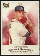2009 Topps Allen and Ginter Jordan Schafer Baseball Card